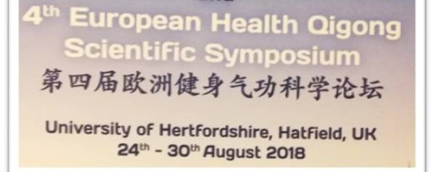 4th Health Qigong Scientific Symposium & Master Seminars 25th-27th August 2018